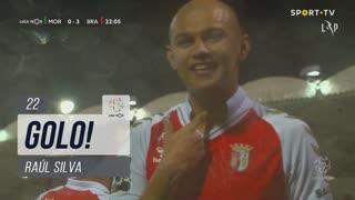 GOLO! SC Braga, Raúl Silva aos 22', Moreirense FC 0-3 SC Braga