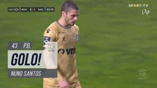 GOLO! CD Nacional, Nuno Santos (p.b.) aos 43', Boavista FC 0-1 CD Nacional