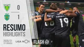 Liga NOS (23ªJ): Resumo Flash CD Tondela 0-1 Sporting CP