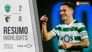 Liga NOS (20ªJ): Resumo Sporting CP 2-0 Portimonense