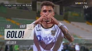 GOLO! FC P.Ferreira, Hélder aos 58', CD Tondela 2-3 FC P.Ferreira