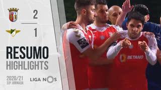 Liga NOS (33ªJ): Resumo SC Braga 2-1 Moreirense FC