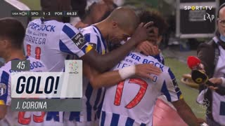 GOLO! FC Porto, J. Corona aos 45', Sporting CP 1-2 FC Porto