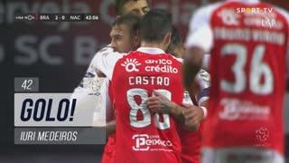 GOLO! SC Braga, Iuri Medeiros aos 42', SC Braga 2-0 CD Nacional