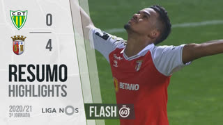 I Liga (3ªJ): Resumo Flash CD Tondela 0-4 SC Braga