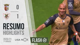 Liga NOS (2ªJ): Resumo Flash SC Braga 0-1 Santa Clara