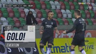 GOLO! SL Benfica, Everton aos 51', Marítimo M. 1-2 SL Benfica