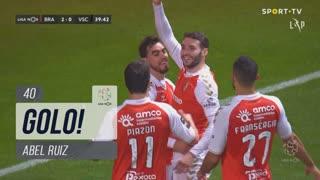 GOLO! SC Braga, Abel Ruiz aos 40', SC Braga 2-0 Vitória SC