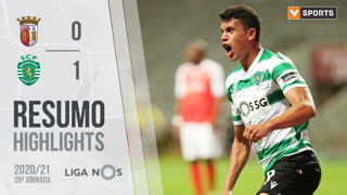 Liga NOS (29ªJ): Resumo SC Braga 0-1 Sporting CP