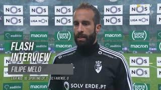 """Filipe Melo: """"Merecíamos sair daqui com pontos"""""""