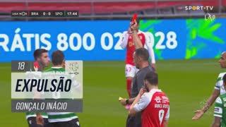 Sporting CP, Expulsão, Gonçalo Inácio aos 18'