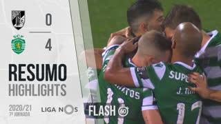 Liga NOS (7ªJ): Resumo Flash Vitória SC 0-4 Sporting CP