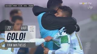 GOLO! Moreirense FC, Yan Matheus aos 72', Moreirense FC 1-0 Santa Clara