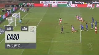 SC Braga, Caso, Paulinho aos 69'