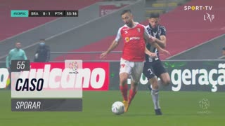 SC Braga, Caso, Sporar aos 55'