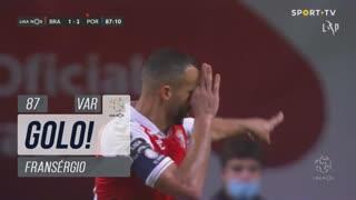 GOLO! SC Braga, Fransérgio aos 87', SC Braga 1-2 FC Porto