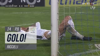 GOLO! Moreirense FC, Riccieli (p.b.) aos 24', FC Famalicão 0-1 Moreirense FC