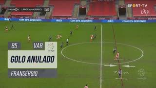 SC Braga, Golo Anulado, Fransérgio aos 85'