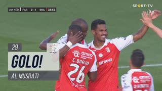 GOLO! SC Braga, Al Musrati aos 29', SC Farense 0-1 SC Braga