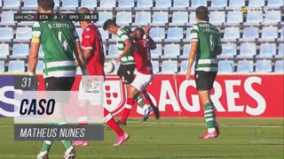 Sporting CP, Caso, Matheus Nunes aos 31'