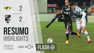 Liga NOS (13ªJ): Resumo Flash Moreirense FC 2-2 Vitória SC