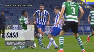 Sporting CP, Caso, Nuno Mendes aos 27'