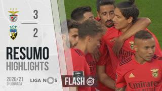 Liga NOS (3ªJ): Resumo Flash SL Benfica 3-2 SC Farense
