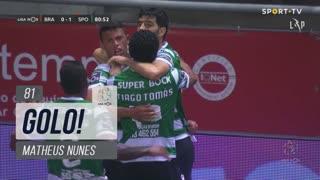 GOLO! Sporting CP, Matheus Nunes aos 81', SC Braga 0-1 Sporting CP