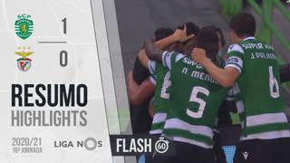 I Liga (16ªJ): Resumo Flash Sporting CP 1-0 SL Benfica