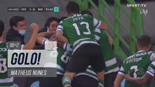 GOLO! Sporting CP, Matheus Nunes aos 90'+2', Sporting CP 1-0 SL Benfica
