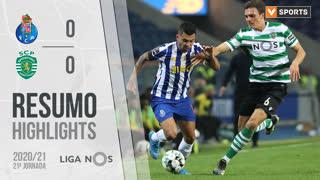 Liga NOS (21ªJ): Resumo FC Porto 0-0 Sporting CP