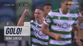 GOLO! Sporting CP, Nuno Santos aos 9', Sporting CP 1-0 FC Porto