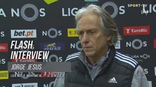 Jorge Jesus discorda de jornalista e critica anti-jogo do adversário