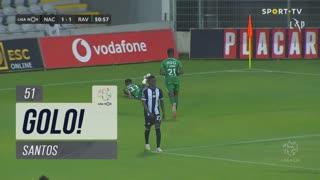 GOLO! Rio Ave FC, Santos aos 51', CD Nacional 1-1 Rio Ave FC