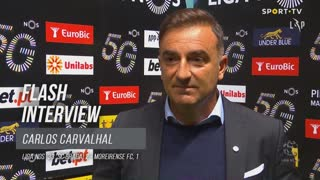 """Carlos Carvalhal: """"Controlámos o jogo com bola"""""""