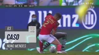 Sporting CP, Caso, Nuno Mendes aos 63'