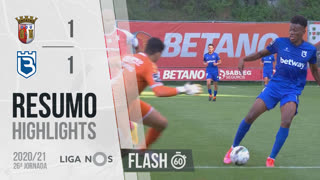Liga NOS (26ªJ): Resumo Flash SC Braga 1-1 Belenenses SAD