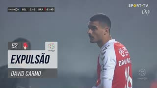 SC Braga, Expulsão, David Carmo aos 62'