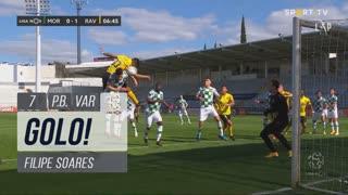GOLO! Rio Ave FC, Filipe Soares (p.b.) aos 7', Moreirense FC 0-1 Rio Ave FC