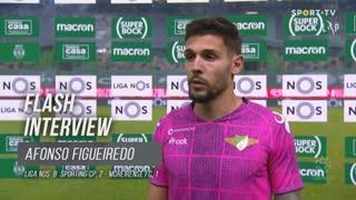 Afonso Figueiredo destacou a atitude da equipa