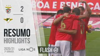 Liga NOS (2ªJ): Resumo Flash SL Benfica 2-0 Moreirense FC