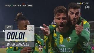 GOLO! CD Tondela, Mario González aos 40', CD Tondela 1-0 Boavista FC
