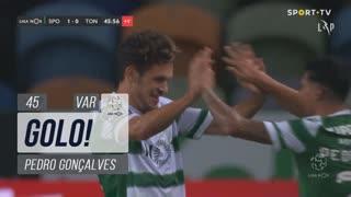 GOLO! Sporting CP, Pedro Gonçalves aos 45', Sporting CP 1-0 CD Tondela