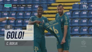 GOLO! SC Braga, C. Borja aos 10', Santa Clara 0-1 SC Braga