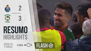 Liga NOS (3ªJ): Resumo Flash FC Porto 2-3 Marítimo M.