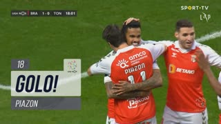GOLO! SC Braga, Piazon aos 18', SC Braga 1-0 CD Tondela