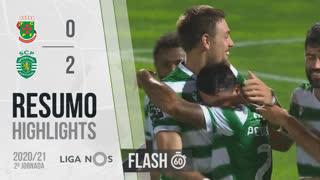 Liga NOS (2ªJ): Resumo Flash FC P.Ferreira 0-2 Sporting CP