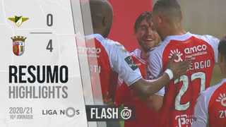 Liga NOS (16ªJ): Resumo Flash Moreirense FC 0-4 SC Braga