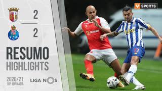 Liga NOS (18ªJ): Resumo SC Braga 2-2 FC Porto