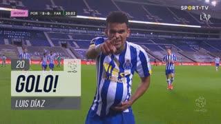 GOLO! FC Porto, Luis Díaz aos 20', FC Porto 3-0 SC Farense